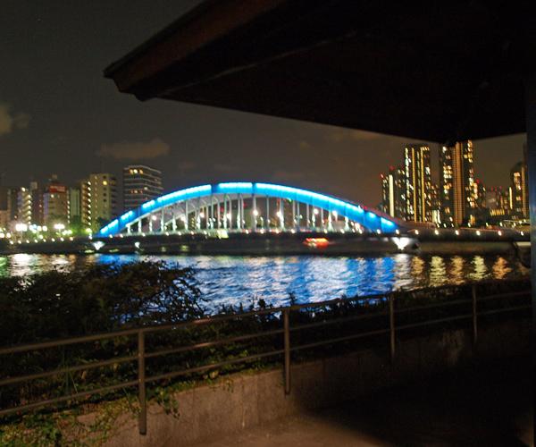永代橋 豊海橋すぐ上の隅田川テラスから見た永代橋。 このあたりの隅田川テラスは... 隅田川に青