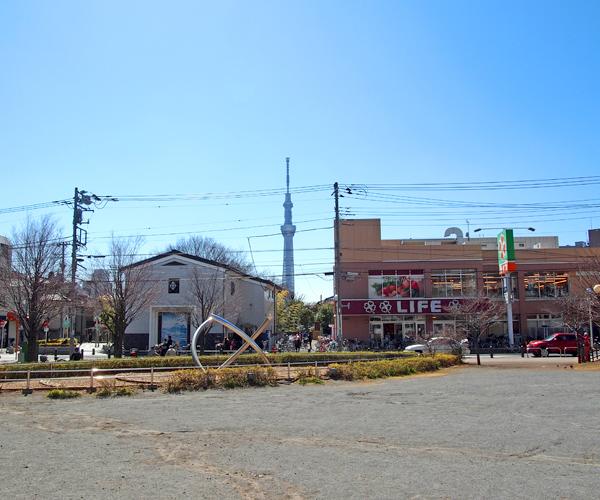 都営墨田一丁目第2アパート前広場